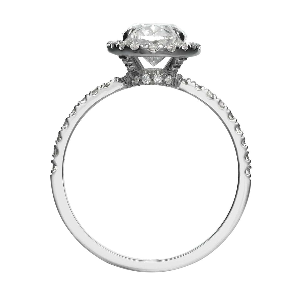 2.27 ct Oval Cut Halo Diamond Engagement Ring