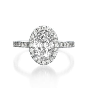 2.27 ct Oval Cut Diamond Engagement Ring