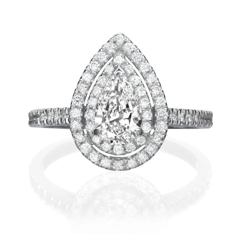 1.50 ct Pear Shaped Diamond Engagement Ring