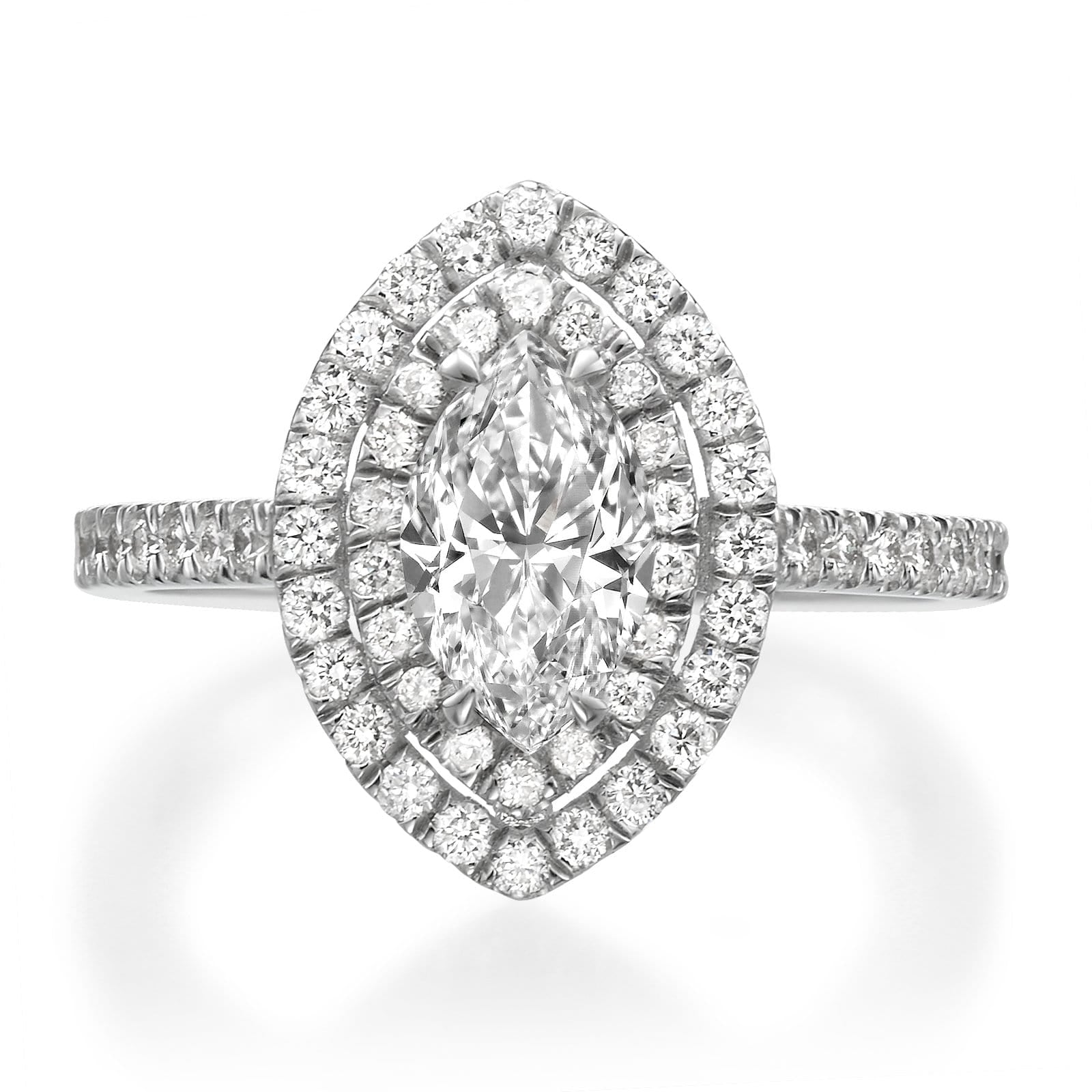 1.51 ct Marquise Cut Diamond Engagement Ring
