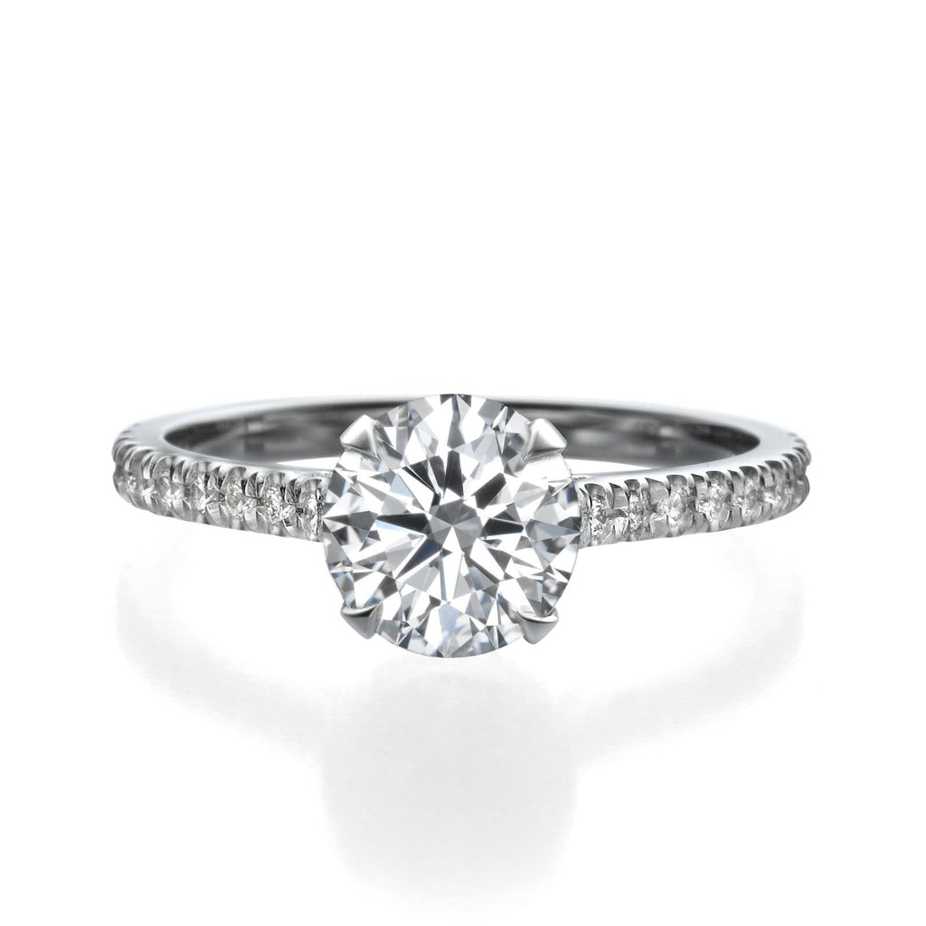 2.01 ct Round Cut Diamond Engagement Ring