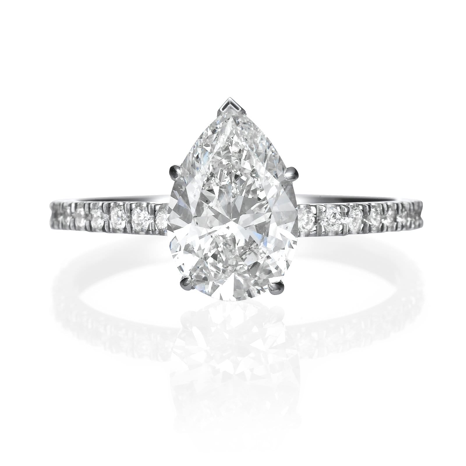 2.05 ct Pear Shaped Diamond Engagement Ring