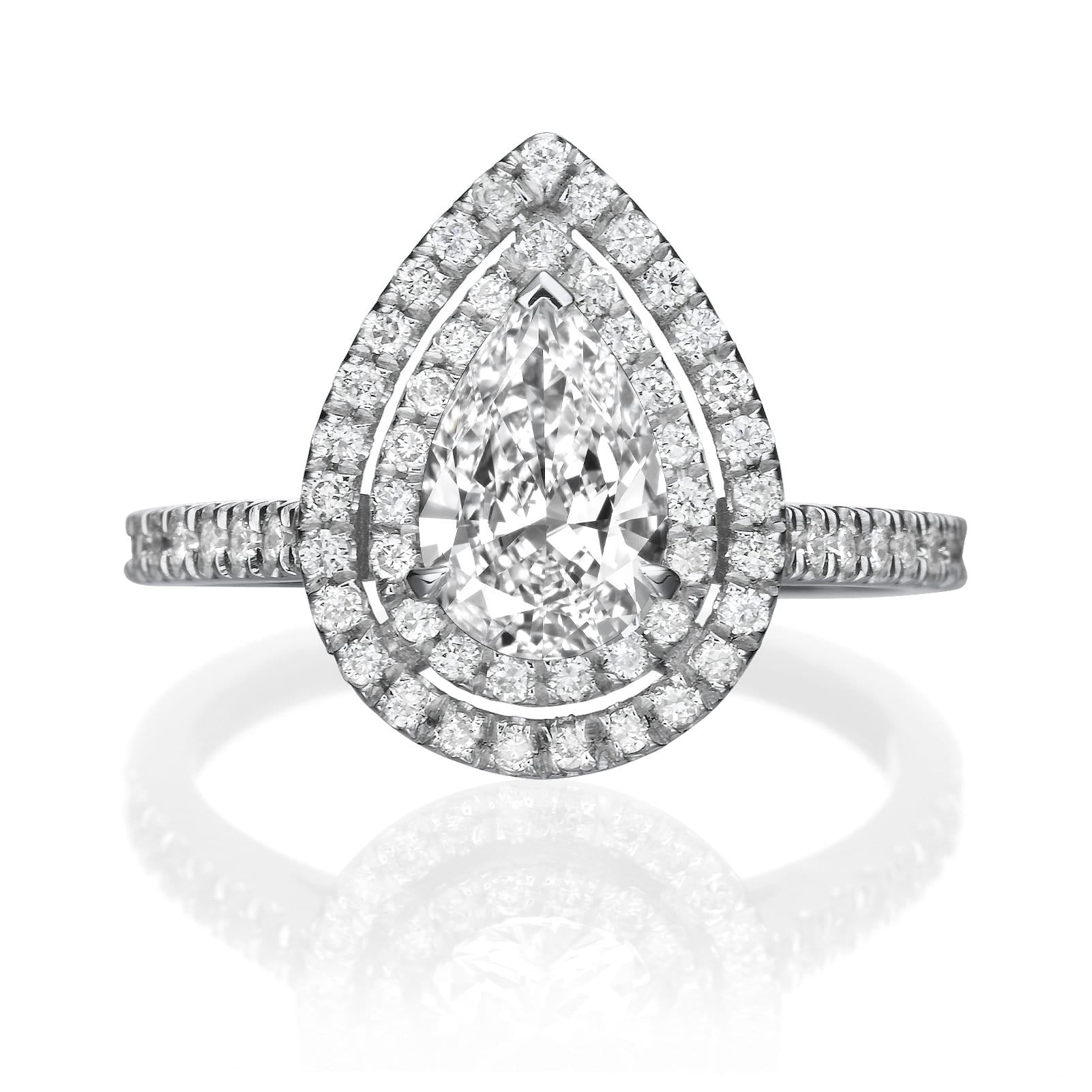 1.92 ct Pear Shaped Diamond Engagement Ring