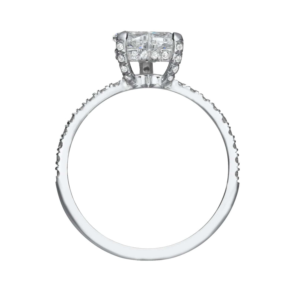 1.66 ct Heart Shaped Diamond Engagement Ring