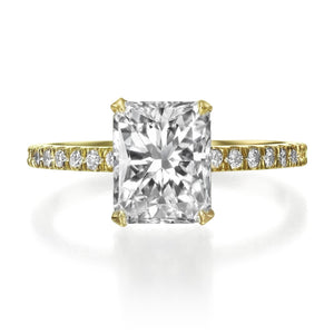 2.39 ct Radiant cut Diamond Engagement Ring
