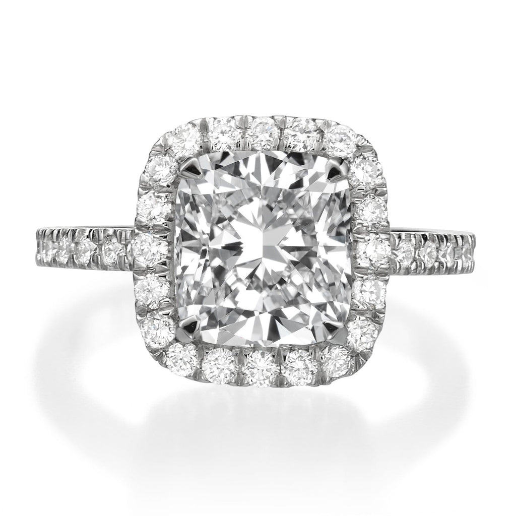 3.76 ct Cushion Cut Diamond Engagement Ring