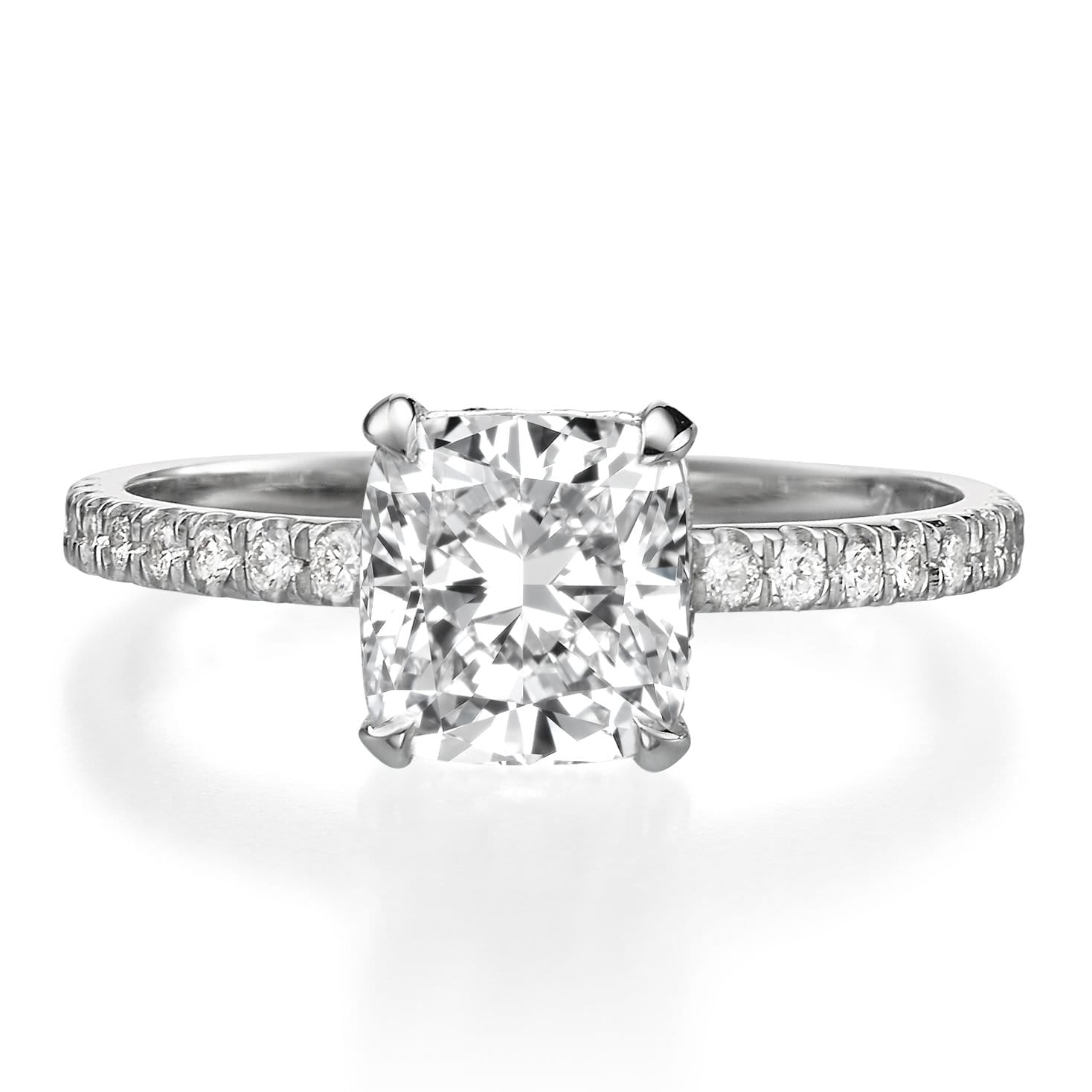 2.02 ct Cushion Cut Diamond Engagement Ring
