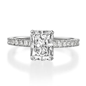 2.08 ct Radiant Cut Diamond Engagement Ring