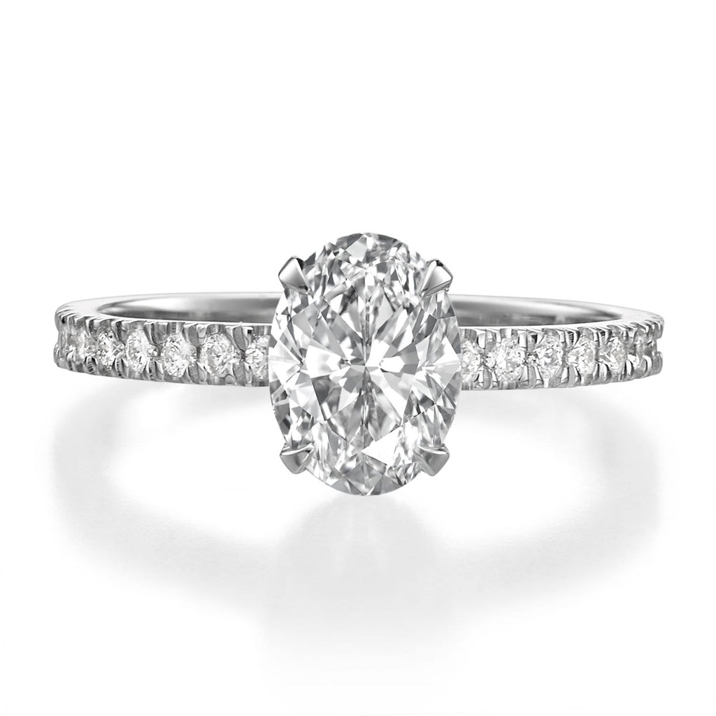 1.51 ct Oval Cut Diamond Engagement Ring