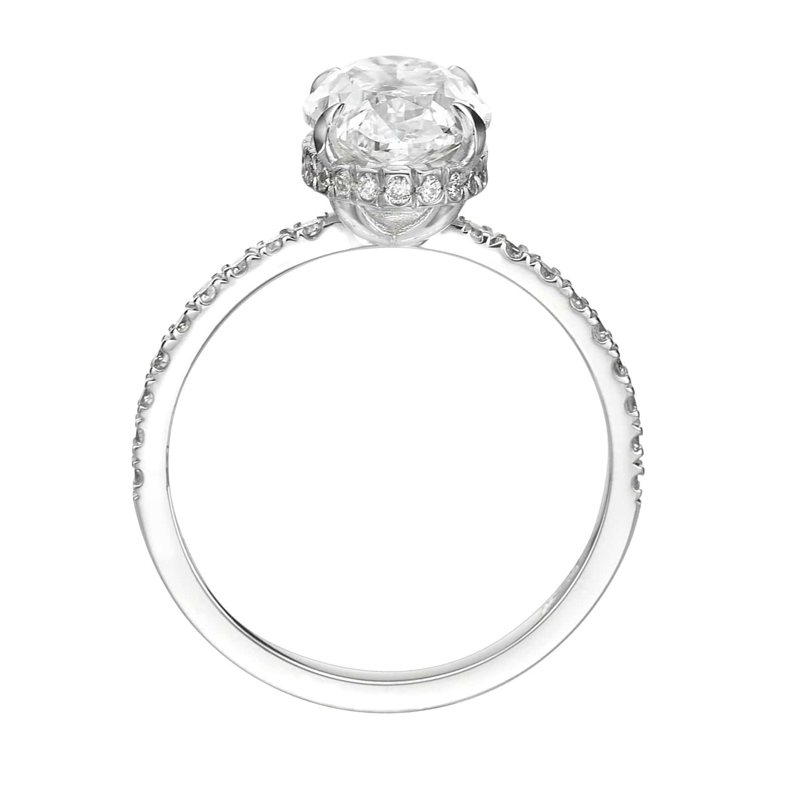2.50 ct Oval Cut Diamond Engagement Ring