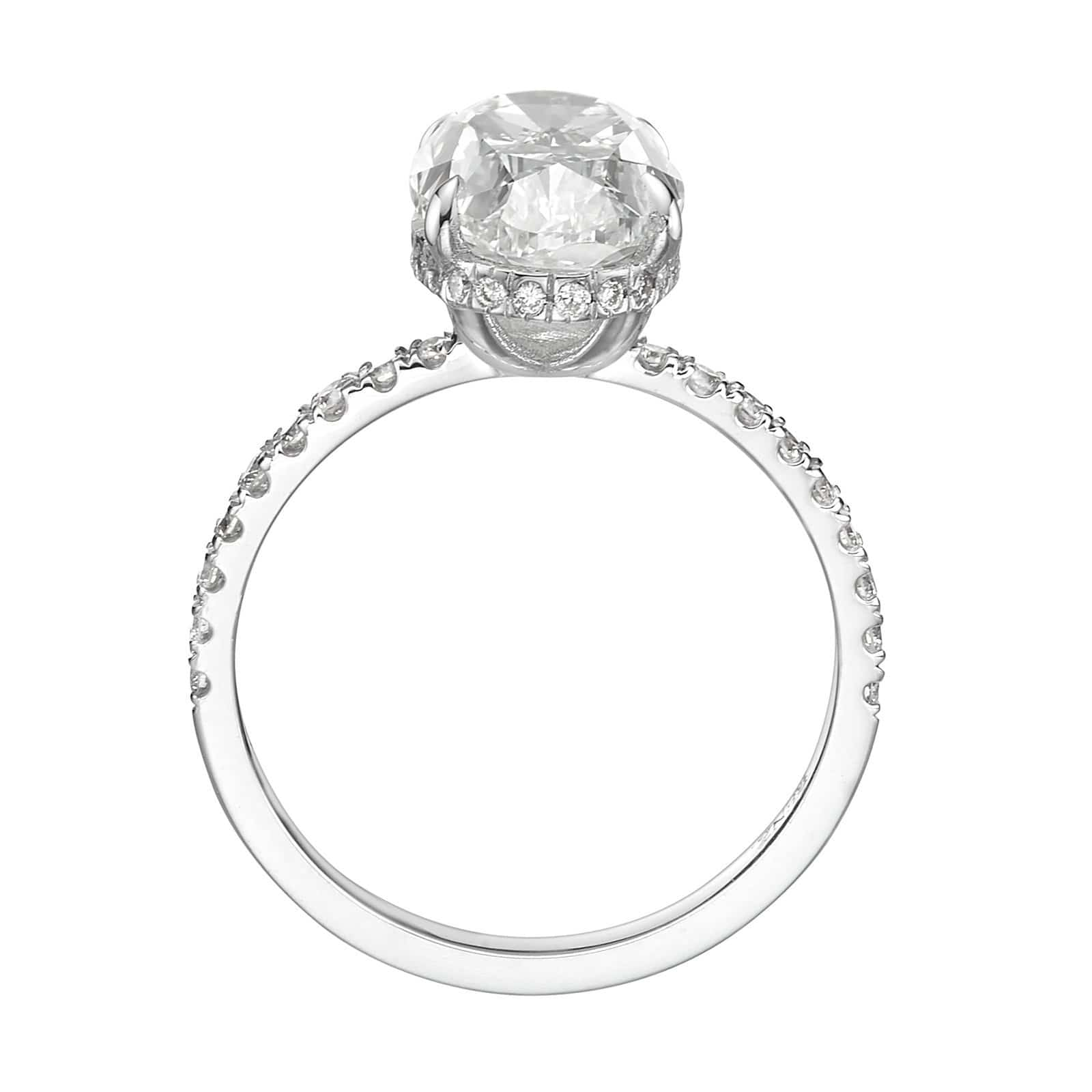 4.52 ct Oval Cut Diamond Engagement Ring
