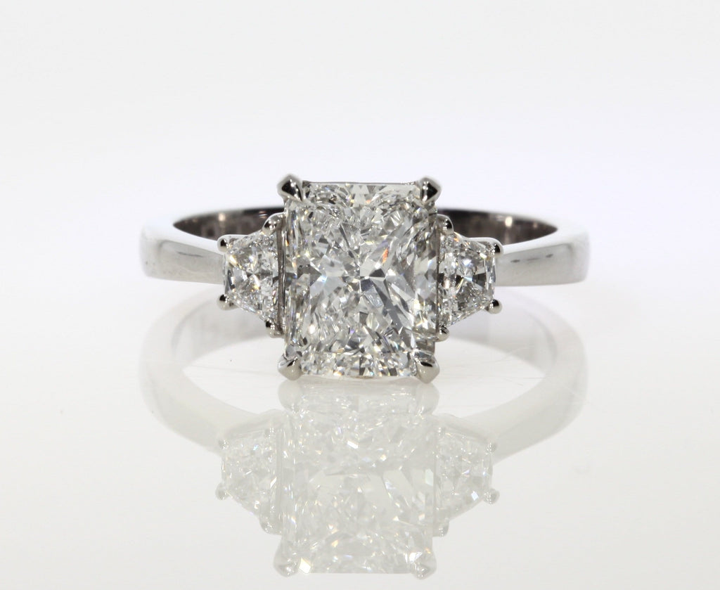 2.30 ct Radiant Cut Diamond Engagement Ring