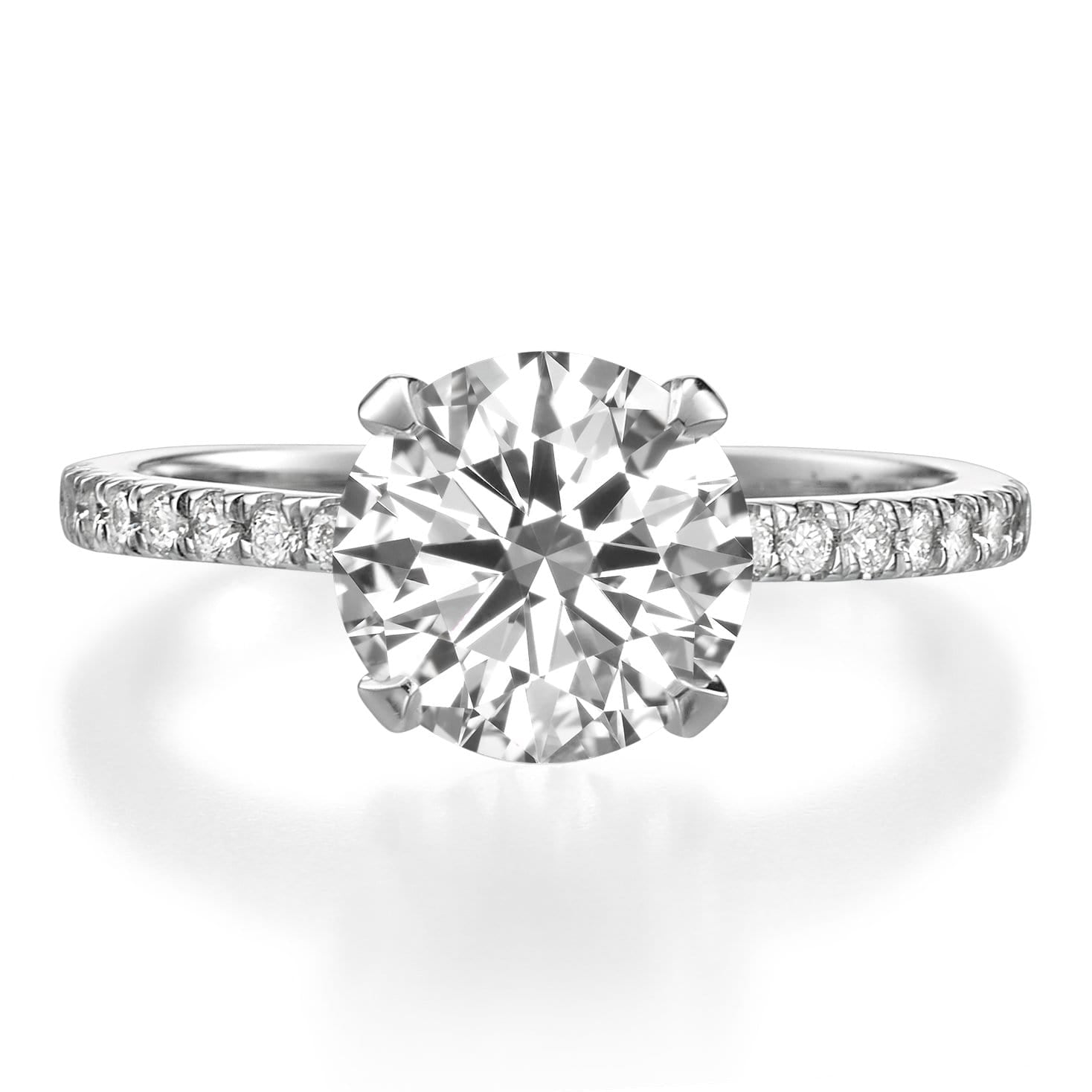 2.31 ct Round Brilliant Cut Diamond Engagement Ring