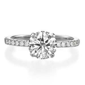 1.70 ct Round Brilliant Cut Diamond Engagement Ring