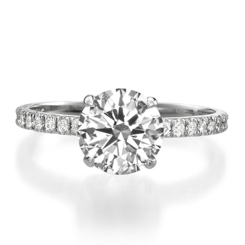 2.01 ct Round Brilliant Cut Diamond Engagement Ring