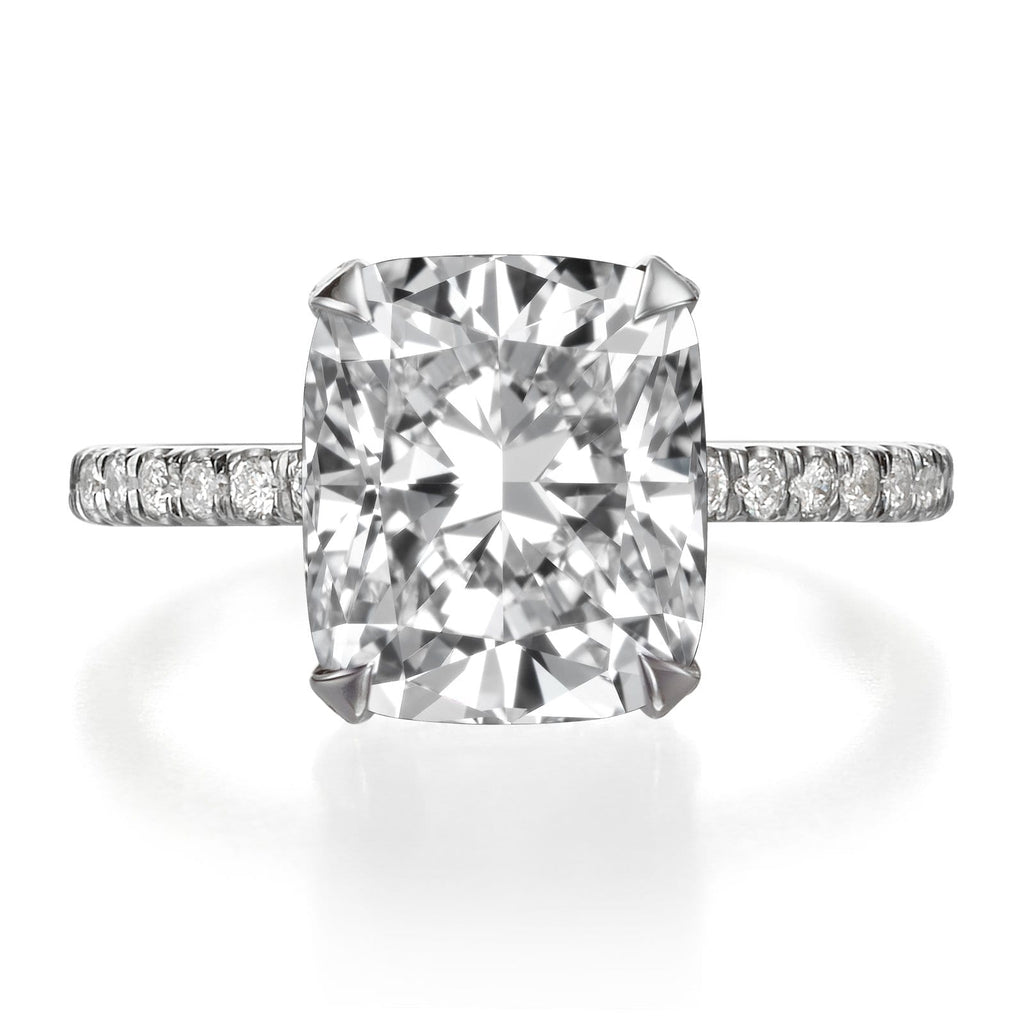 4.35 ct Cushion Cut Diamond Engagement Ring