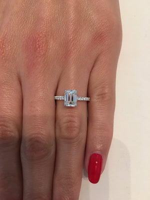 2.05 ct Emerald Cut Diamond Engagement Ring