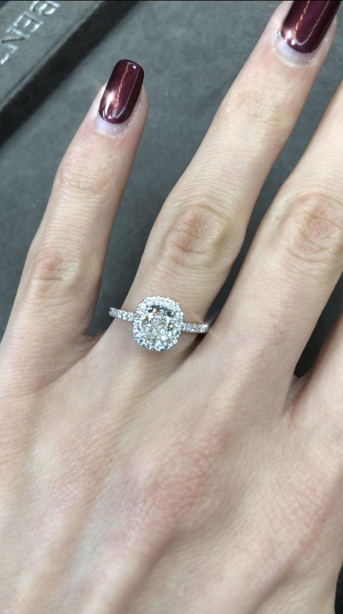 1.76 ct Cushion Cut Diamond Engagement Ring