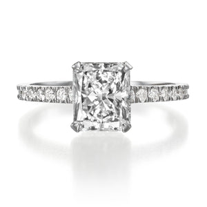 2.05 ct Radiant Cut Diamond Engagement Ring