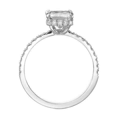 1.85 ct Radiant Cut Diamond Engagement Ring