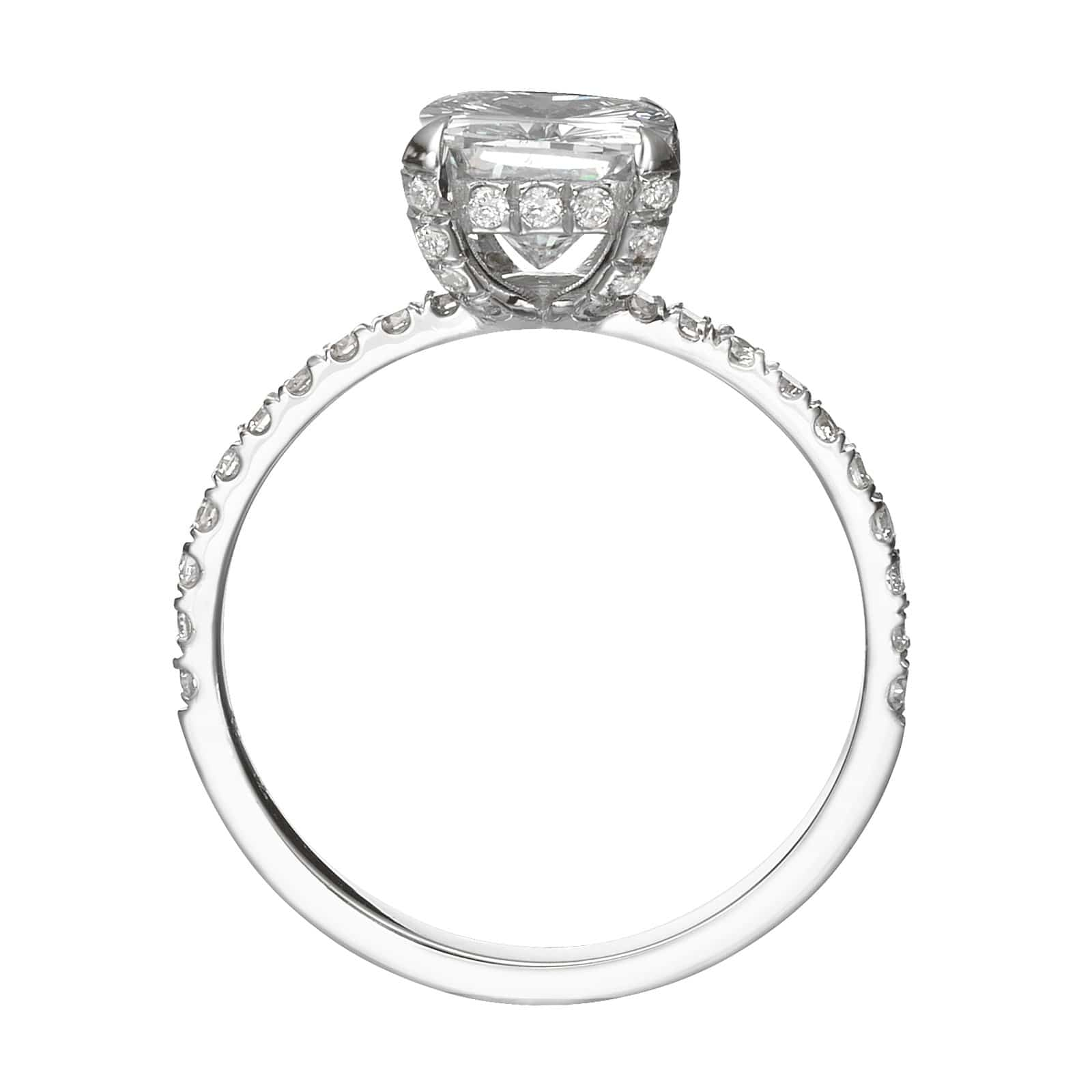 2.60 ct Cushion Cut Diamond Engagement Ring