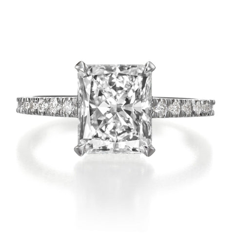 3.02 ct Radiant Cut Diamond Engagement Ring