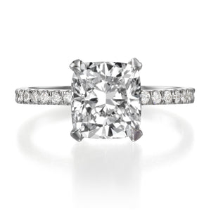 2.61 ct Cushion Cut Diamond Engagement Ring