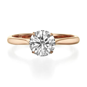 1.50 ct Round Brilliant Cut Diamond Solitaire Engagement Ring Rose Gold
