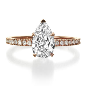 1.60 ct Pear Shaped Diamond Engagement Ring