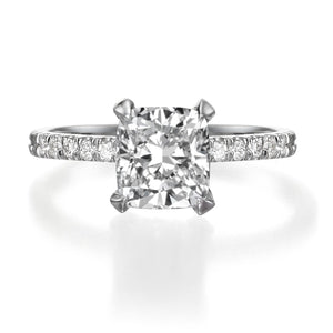 1.61 ct Cushion Cut Diamond Engagement Ring