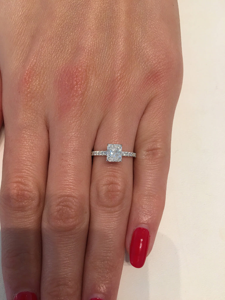 095fa7e16 1.75 ct Radiant Cut Diamond Engagement Ring – BenzDiamonds