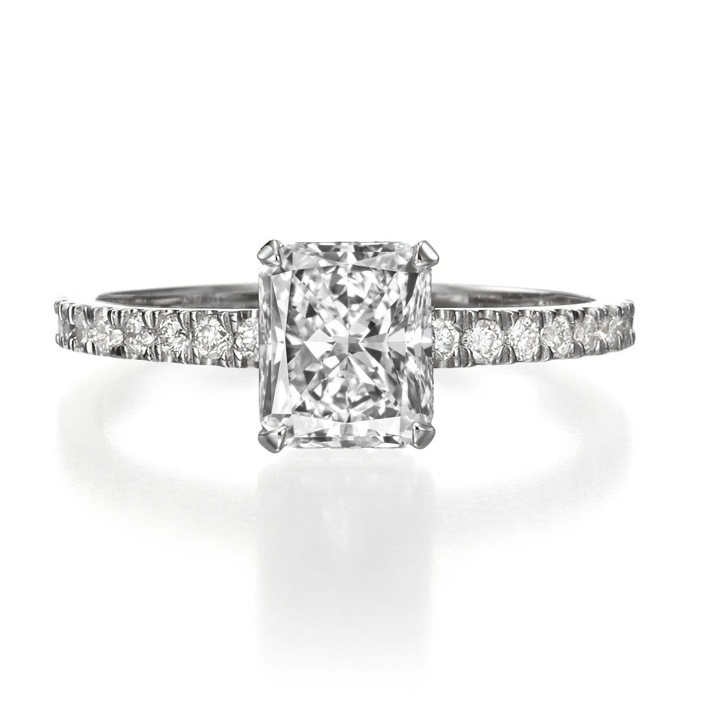 1.55 ct Radiant Cut Diamond Engagement Ring
