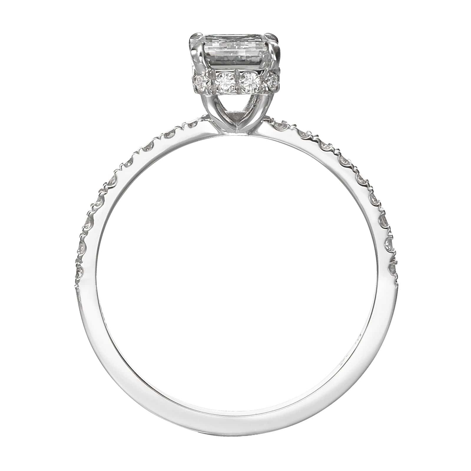 1.56 ct Emerald Cut Diamond Engagement Ring