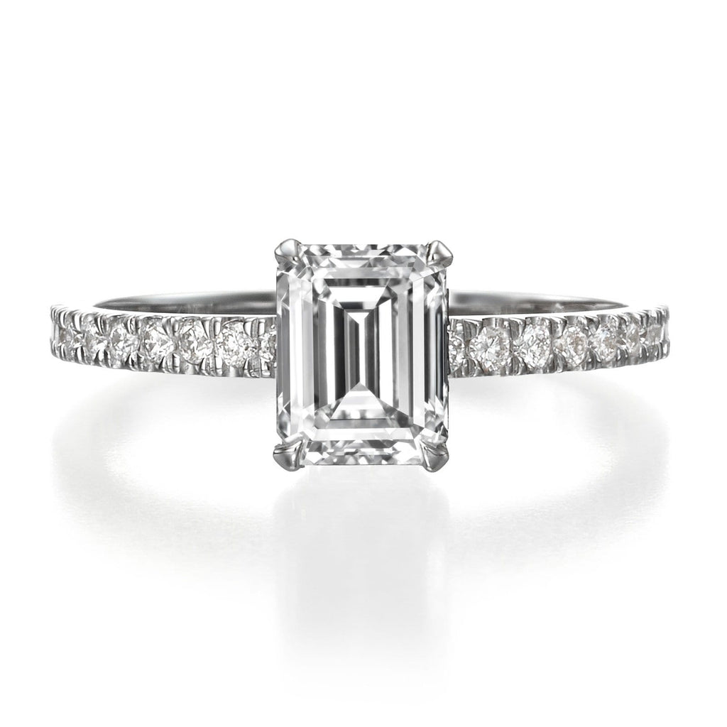 529b8cc48 1.56 ct Emerald Cut Diamond Engagement Ring – BenzDiamonds