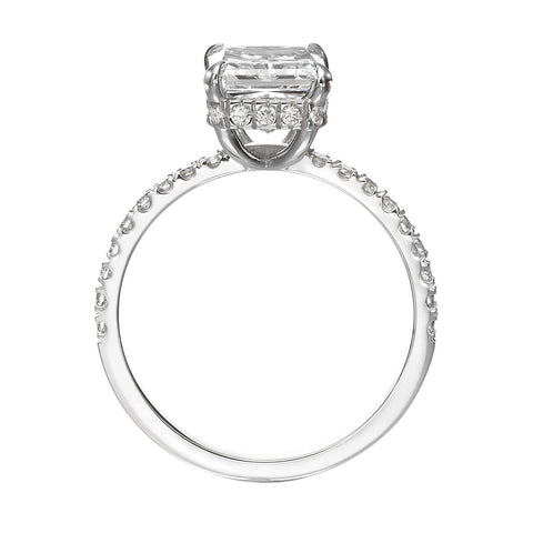 2.55 ct Radiant Cut Diamond Engagement Ring