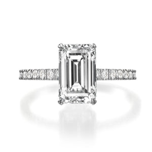 2.55 ct Emerald Cut Diamond Engagement Ring