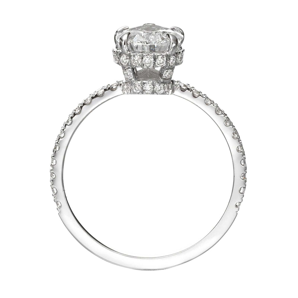 2.77 ct Pear Shaped Diamond Engagement Ring