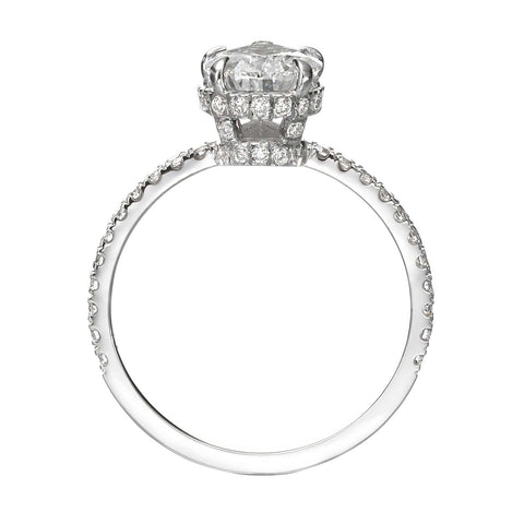 2.18 ct Pear Shaped Diamond Engagement Ring