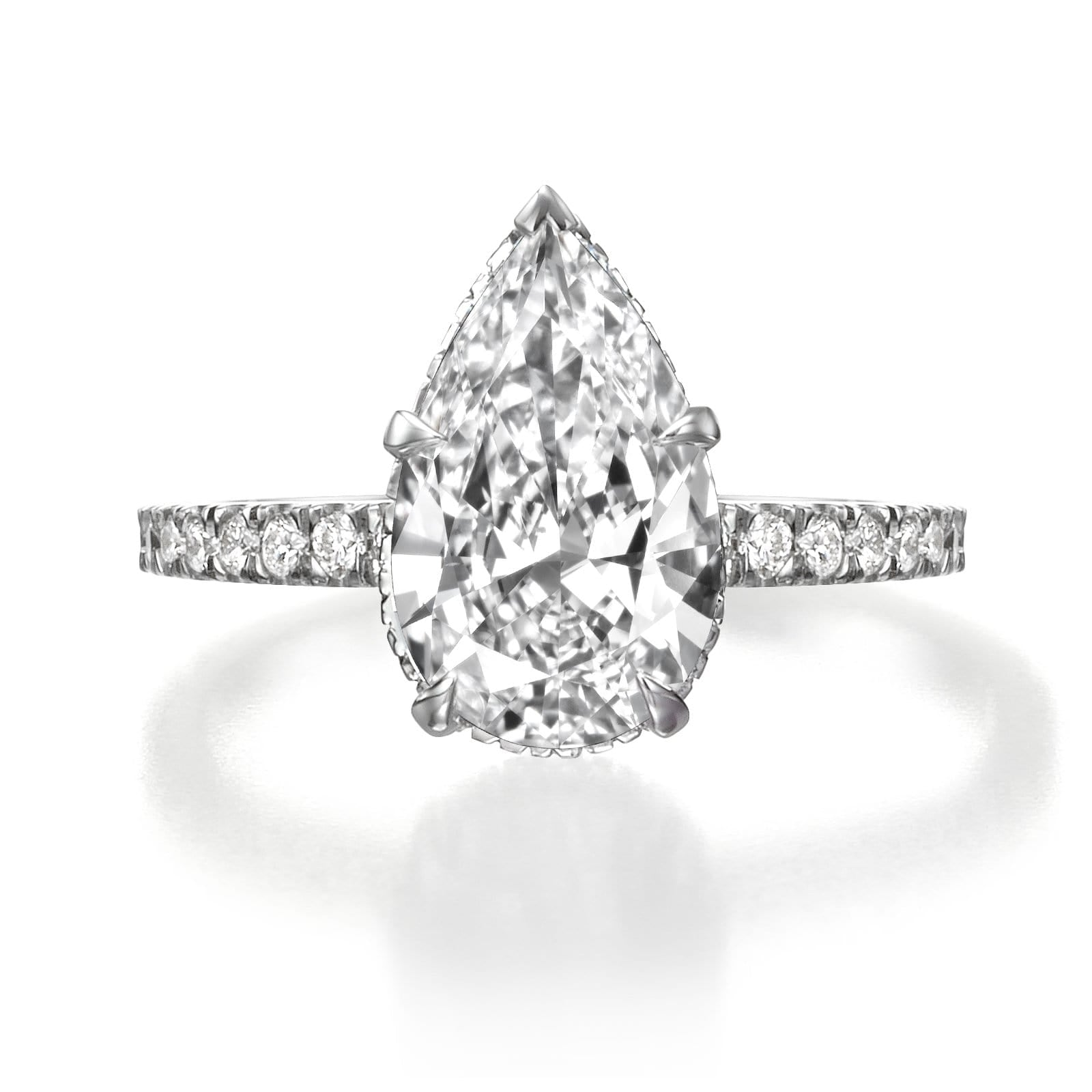 3.20 ct Pear Shaped Diamond Engagement Ring