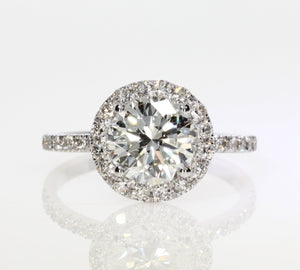 2.06 ct Round Cut Diamond Engagement Ring