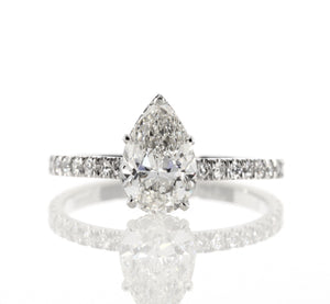 2.16 ct Pear Shaped Diamond Engagement Ring