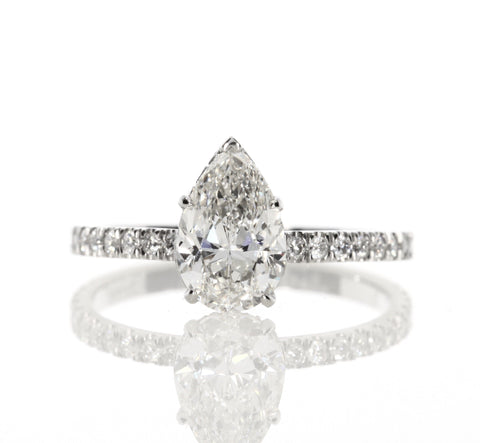 2.15 ct Pear Shaped Diamond Engagement Ring