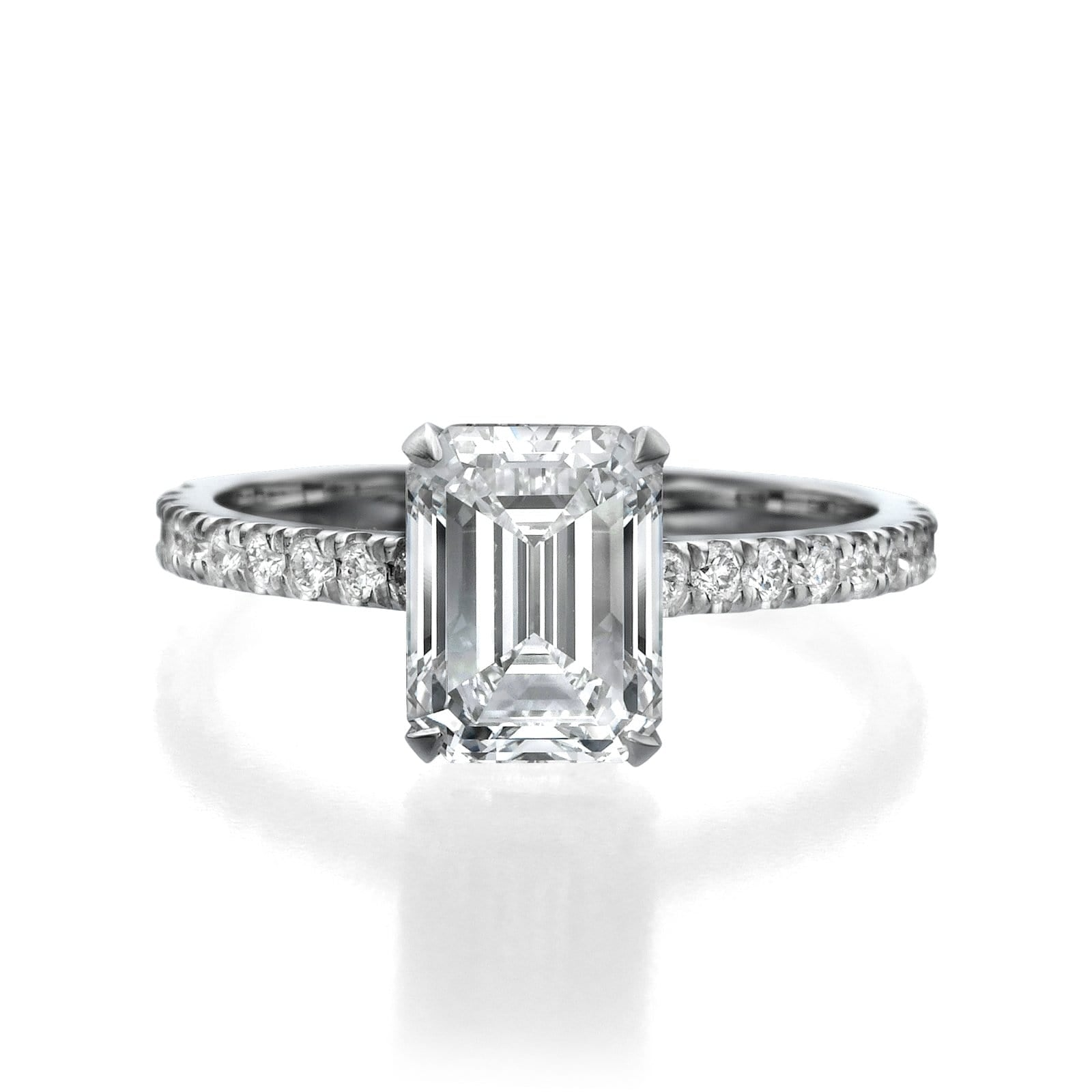 2.50 ct Emerald Cut Diamond Engagement Ring