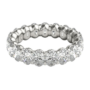 4 ct Oval Cut Diamond Eternity Band in Platinum