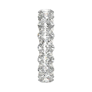 3 ct Oval Cut Diamond Eternity Band in Platinum