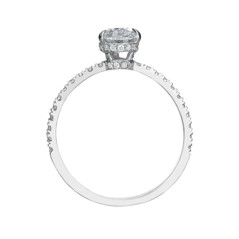 1.52 ct Pear Shaped Diamond Engagement Ring