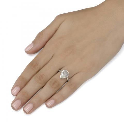 2.01 ct Pear Shaped Diamond Engagement Ring