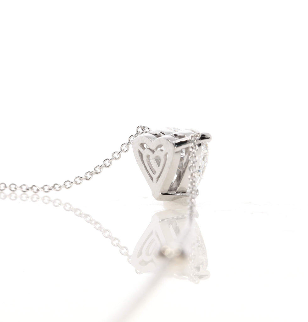 1.51 ct Heart Shaped Diamond Pendant Necklace