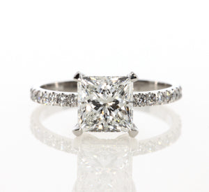 2.62 ct Princess Cut Diamond Engagement Ring