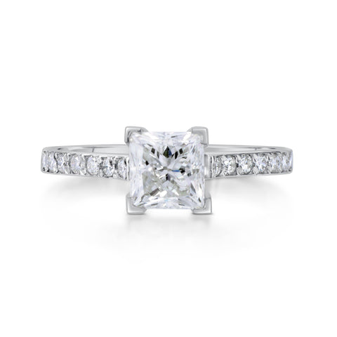 1.25 ct Princess Cut Diamond Engagement Ring